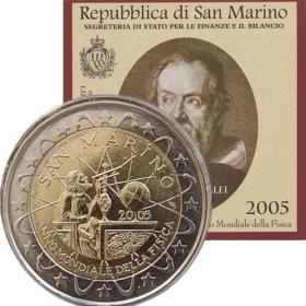2 Euro / 2005 - San Maríno - Medzinárodný rok fyziky