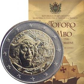 2 Euro / 2006 - San Maríno - Krištof Kolumbus