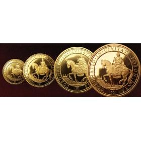 Set of gold medals Maria Theresa (1, 2, 5, 10 - ducat)