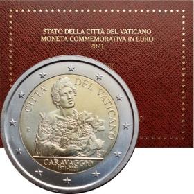2 Euro Vatican 2021 - Caravaggio