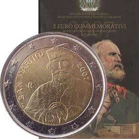 2 Euro / 2007 - San Maríno - Guiseppe Garibaldi
