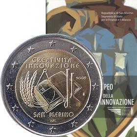 2 Euro San Maríno 2009 - Európsky rok kreativity a inovácií