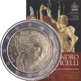 2 Euro / 2010 - San Marino - Sandro Botticelli