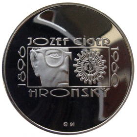 200 Sk 1996 - 100. výročie narodenia Jozefa Cígera Hronského - Proof