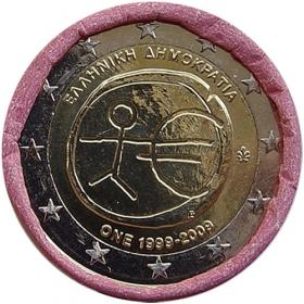 2 Euro Grécko 2009 - Hospodárska a menová únia
