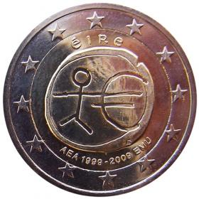2 Euro Írsko 2009 - 10. výročie HMU