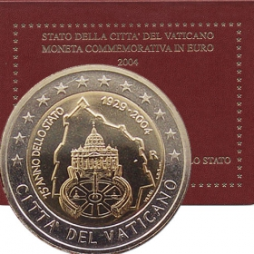 2 Euro / 2004 - Vatican - Anniversary of the foundation of Vatican