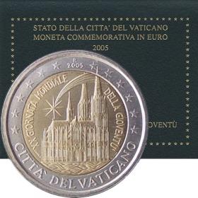 2 Euro / 2005 - Vatikán - Svetový deň mládeže v Kolíne