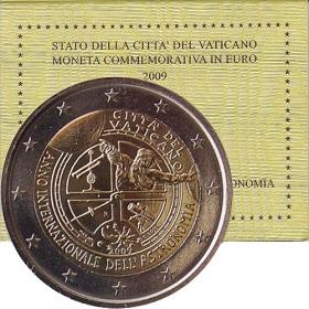 2 Euro Vatikán 2009 - Medzinárodný rok astronómie