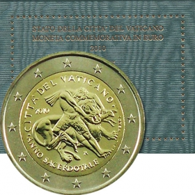 2 Euro Vatikán 2010 - Rok kňazov 2009-2010
