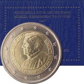 2 Euro / 2007 - Vatikán - 80. narodeniny pápeža Benedikta XVI.