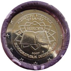 """2 Euro Nemecko """"F"""" 2007 - Rímska zmluva"""