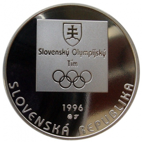 200 Sk / 1996 - 100th anniversary of the holding of the first modern Olympic Games in Greece and the first participation of the Slovak republic in the summer Olympic Games - Proof