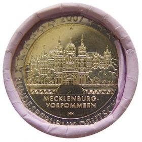 "2 Euro Nemecko ""A"" 2007 - Meklenbursko-Predpomoransko: Zámok Schwerin"