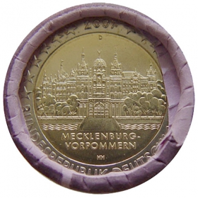 2 Euro / 2007 - Germany - Mecklenburg-Vorpommern: Castle Schwerin 'D'