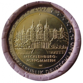 "2 Euro Nemecko ""F"" 2007 - Meklenbursko-Predpomoransko: Zámok Schwerin"