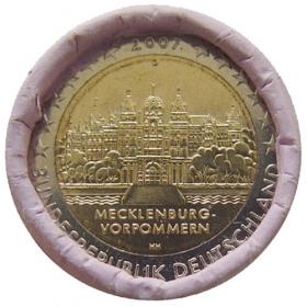 """2 Euro Nemecko """"G"""" 2007 - Meklenbursko-Predpomoransko: Zámok Schwerin"""