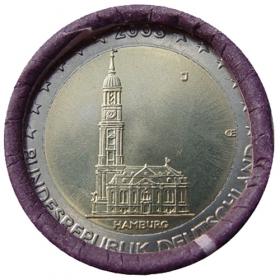 2 Euro / 2008 - Nemecko - Hamburg: Kostol Michel 'J'