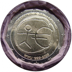 """2 Euro Nemecko """"F"""" 2009 - Hospodárska a menová únia"""
