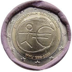 """2 Euro Nemecko """"J"""" 2009 - Hospodárska a menová únia"""