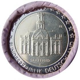 """2 Euro Nemecko """"F"""" 2009 - Sársko: Kostol Ludwigskirche"""