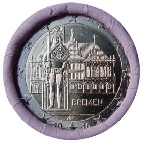 """2 Euro Nemecko """"J"""" 2010 - Brémy"""