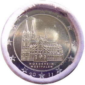 """2 Euro Nemecko """"A"""" 2011 - Severné Porýnie-Vestfálsko: Kolínska katedrála"""
