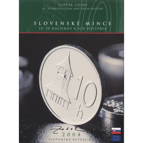 Set Sk / 2004 - Slovak coins - 10 and 20 heller coins and their history - with the author's signature