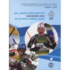 Sada Euro / 2010 - Slovenské euromince - XXI. Zimné olympijské hry Vancouver - Proof