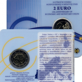 2 Euro Coincard / 2009 - Slovakia - Economic and Monetary Union