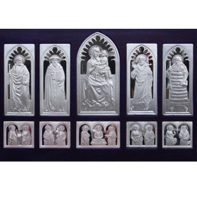 Bojnický oltár na strieborných plaketách
