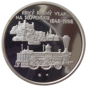 200 Sk / 1998 - First steam train in Slovakia - Proof