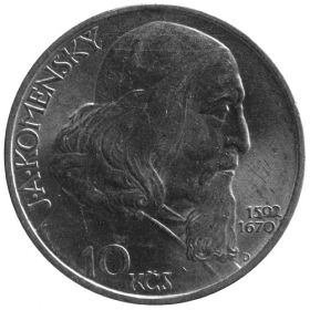 10 Kčs / 1957 - J. A. Komensky - BU