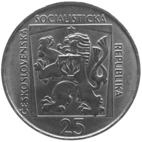 25 Kčs 1970 - Slovenské národné divadlo - Bežná kvalita