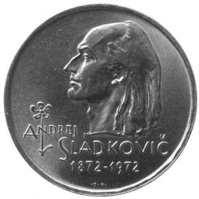 20 Kčs / 1972 - 100. výročie úmrtia A. Sládkoviča - Bežná kvalita