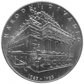 100 Kcs / 1983 - 100th anniversary of National Theatre opening - Standard quality