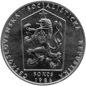 50 Kcs / 1986 - Prague City monument reserve - Standard quality