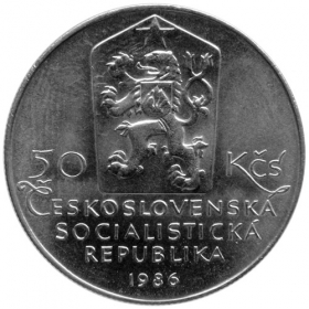 50 Kčs 1986 - Mestská pamiatková rezervácia Telč, Bežná kvalita