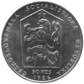 50 Kčs / 1986 - Český Krumlov - BU