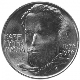 100 Kcs / 1986 - 150th anniversary of K. H. Macha´s death - Standard quality