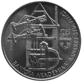 100 Kčs / 1987 - 225. výročie založenia Baníckej akadémie v Banskej Štiavnici - Bežná kvalita