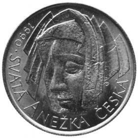 50 Kčs 1990 - Anežka Česká - Bežná kvalita