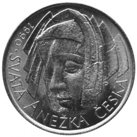 50 Kcs / 1990 - Anezka Ceska - Agnes of Bohemia´s first sanctuary anniversary - Standard quality