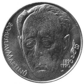 100 Kčs / 1990 - 100. výročie narodenia B. Martinů - Bežná kvalita