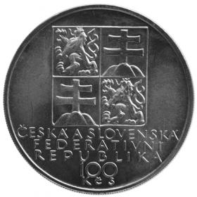 100 Kčs / 1991 - 150. výročie narodenia A. Dvořáka - Bežná kvalita