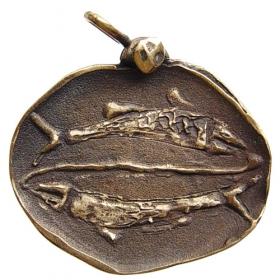 Bronzový prívesok znamenia zverokruhu Ryby