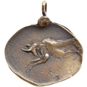 Bronzový prívesok znamenia zverokruhu Býk