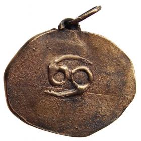 Bronzový prívesok znamenia zverokruhu Rak
