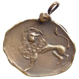 Bronzový prívesok znamenia zverokruhu Lev