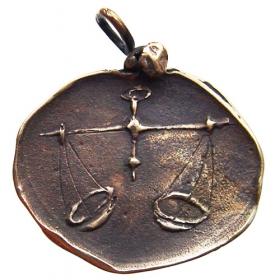 Bronzový prívesok znamenia zverokruhu Váhy